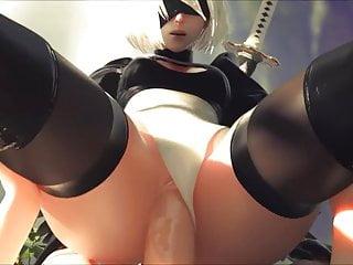 Sex cartoons video - Nier automata 2b - vaginal sex with sound - hentai