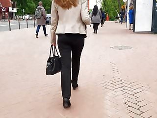 Nude woman ass on ass - Young woman ass in black pants