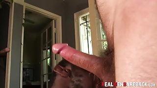 Black and white cock sucking plus bareback doggystyle