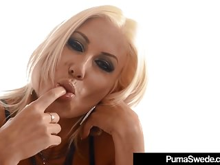 Nude amazons girl Blonde amazon puma swede bangs her pussy in a public diner