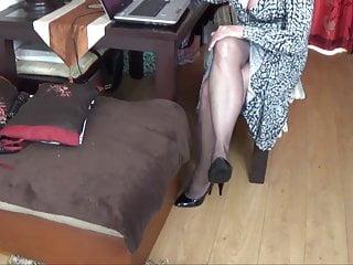 Joanne kou asian laredo Joanne bache shows off her exquisite legs in black pantyhose