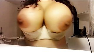 Huge Black Boobs pulled out of bra