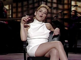 Shanon stone upskirt Sharon stone - snl april 11, 1992