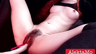 Hairy pussy needs a fuck – virgin bitch orgasm, stepsister cums
