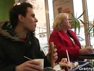 Mature pussy food Fast food granny fucked