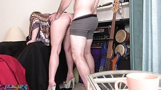 Stepmom bent over and fucked hard