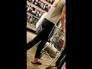 Thin blonde anal pumping Candid tall thin blonde in yoga pants