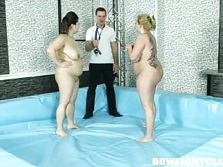 Wrestler dick the bulldog Bbw fight club presents semifinal wrestlers leny and kristy