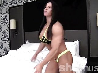 Flexing tits - Angela salvagno posing and flexing