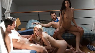 VipSexVault Alexa Tomas Indulge In Hot 4some Hubby & Friends