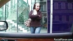Cindy Dollar blowjob in car