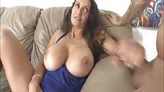 She makes him cum on her big tits
