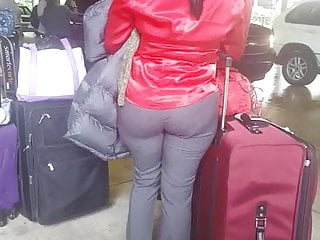 Airport security 2 gay Candid haitian booty at airport 2