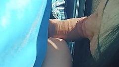 Dogging wife suck stranger cock outside