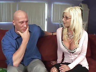 Sweden handjob - Sweden milf in fishnet with big tits fucks guy top milf