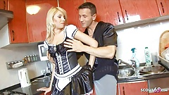 Hot Teen Maid Rough Anal with Boss when his Wife is Away