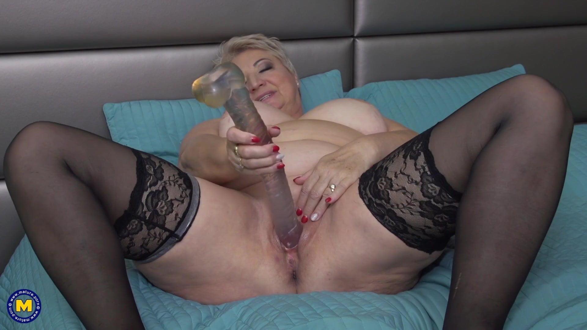 Grandma's first dildo