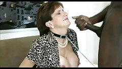 BBC facial for busty british MILF Lady Sonia