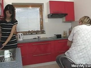 She gets fucked licks ass She gets her pussy licked and fucked by his olds