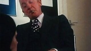 Cigar Smoking Exec Daddy Boss gets cock sucked by secretary