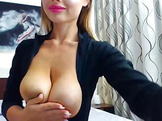Busty girl webcam - Cute busty girl undresses