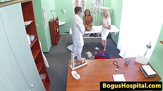 Euro patient creampied after throating doc
