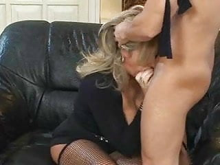 Milf fishnets fuck Blonde milf in fishnet stockings fucks