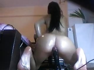 Sex lubes with paypal Oily brunette rides well lubed dildo on cam
