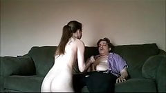 Guy gets hand job with a time limit to cum