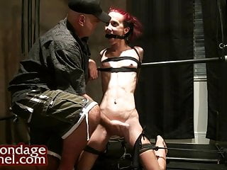 Bondage models in socks - Fitness model predicament bondage