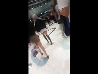 Concert asian Asian babe bubble butt candid ass after concert