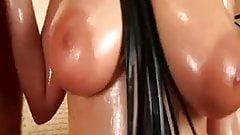 Huge breasts babe does handjob sex to a big cock hard