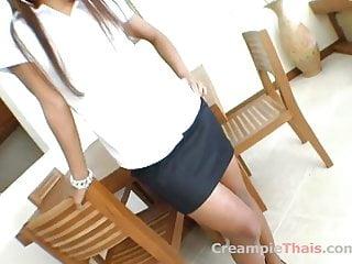 Thai creampie teen slutload Nice ass on this thai creampie slut