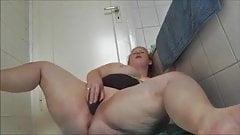 Fat pig worries her cunt