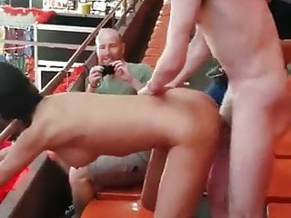 Hairy nudists having sex - Couple having sex in public