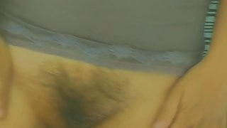 premature cum on pussy, small tits, hand job, small penis