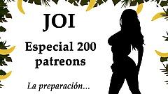 JOI Especial 200 patreons, 200 corridas. Spanish audio.