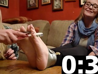 Tickle feet nude Feet tickling of two blonde teens