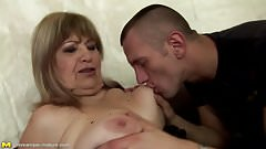 Mature anal whores gets cum in asses