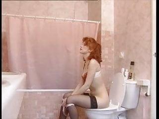 Vintage bathroom fixture salvage Redhead bathroom fuck