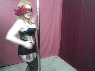 Big tit redhead dancing - Masked redhead milf dancing non-nude