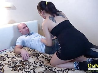 Hardcore and milf Oldnanny mature lady threesome hardcore and toys