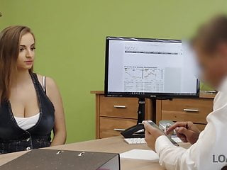 Man with sex with bitch Loan4k. slutty bitch with big tits pays with sex for help...