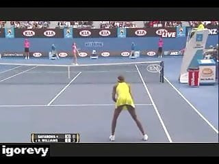 Nude on tennis court Venus williams - upskirt no panties on tennis court