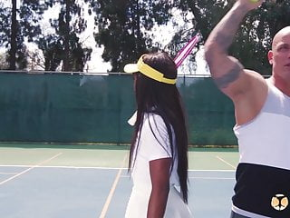 Tennie cum Shedoesanal - tennis babe ana foxxx anal lessons with coach