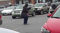 Pear Shaped SSBBW Walking to her car