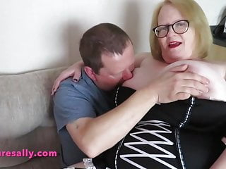 Busty mature home anal Busty granny playing away from home