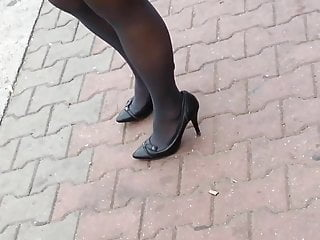 Candid nude highs boys - Candid sexy high heels pantyose in bus stop 324