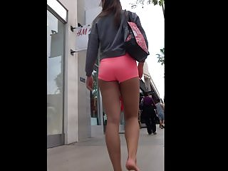 Free asian tiny models - Sexy asian tiny pink spandex shorts great ass