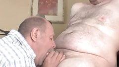 mustache daddy bear sucking cock